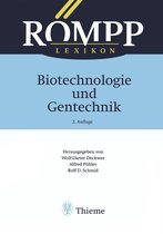 Boek cover RÖMPP Lexikon Biotechnologie und Gentechnik, 2. Auflage, 1999 van Birger Anspach