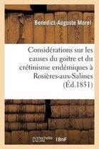 Considerations sur les causes du goitre et du cretinisme endemiques a Rosieres-aux-Salines (Meurthe)