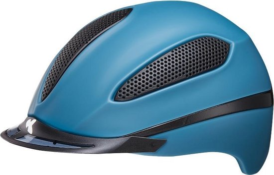 Paso L blue matt KED  cap met hoofdomtrek: 57-62 cm