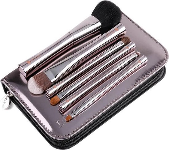 Dermarolling 7-Delige Make Up Kwasten Set Zilver Deluxe U602 - Dermarolling