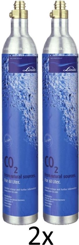 Voordeelpakket 2 x Habit CO2 cilinder | 2 x 60L | Voor Sodastream, ION waterkoeler en Linde CO2 cilinders