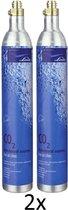 Voordeelpakket 2 x Habit CO2 cilinder | 2 x 60L | Voor Sodastream, ION waterkoeler en Linde CO2 cilinders - Grijs