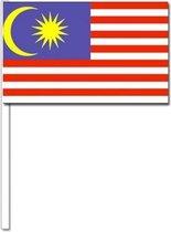 10 zwaaivlaggetjes Maleisie 12 x 24 cm