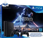 Sony PlayStation 4 Slim Console - incl. 2 controllers & Start Wars Battlefront 2 - 1 TB