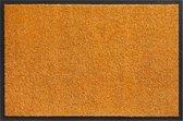 Deurmat schoonloopmat Twister 40 x 60 cm Oranje