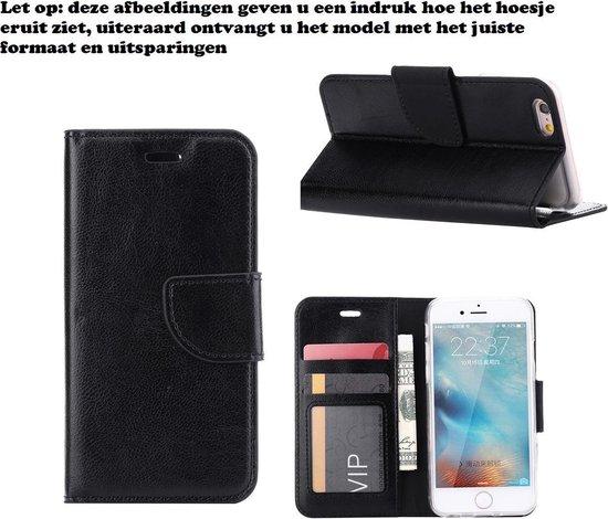 Xssive Hoesje voor Wiko Pure 4G Boek Hoesje Book Case Zwart