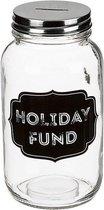 Glazen spaarpot Holiday Fund