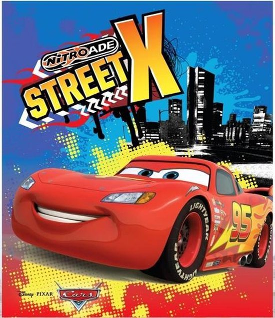 Cars - Street X - Nitroade - Opblaasbaar - Surfboard - Surfplank - 3 tot 6 jaar - 70 x 45 x 10 cm