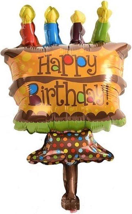 Chocolade taart folie ballon