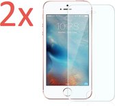 2x Screenprotector Geschikt voor Apple iPhone 5 / 5S / 5C / 5SE - Tempered Glass Screenprotector Transparant 2.5D 9H (Gehard Glas Screen Protector) - (0.3mm) (Duo Pack)