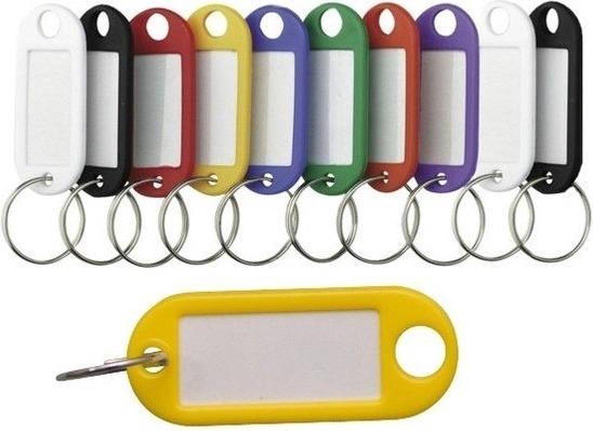 Gekleurde sleutellabels / sleutelhangers - 10 delig