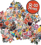 Premium Sticker Vinyl Pack [210 Stickers], Vinyl Graffiti Stickers voor laptop, auto, motorfiets, fiets, PS4, kinderen, boeken, skateboard, bagage, snowboard, iPhone, MacBook, Nintendo enz - waterdicht en zonnebescherming