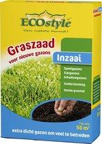 ECOstyle Graszaad-Inzaai - 1 kg - voor het inzaaien van een nieuw gazon -voor 50 m2