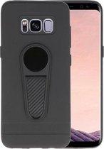 Zwart Magneet Stand Case hoesje voor Samsung Galaxy S8