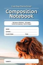 Cute Dog Theme Ruled Composition Notebook