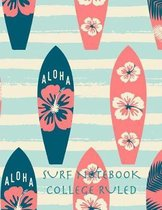 Surf Notebook College Ruled