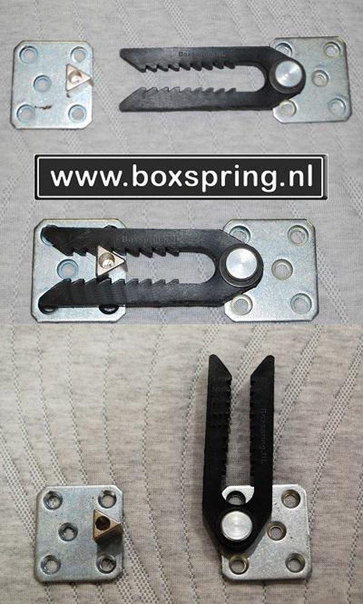 Boxpring.nl Koppelklem - Kunststof - Zwart - Boxspring.nl - Uw Bed