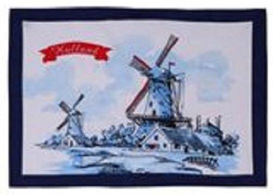 Theedoek molen Holland 50x70cm