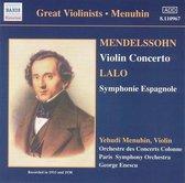 Menuhin:Mendelssohn.Lalo.Chaus