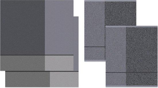 DDDDD Blend - 2x Theedoek & 2x Keukendoek - Dove Grey