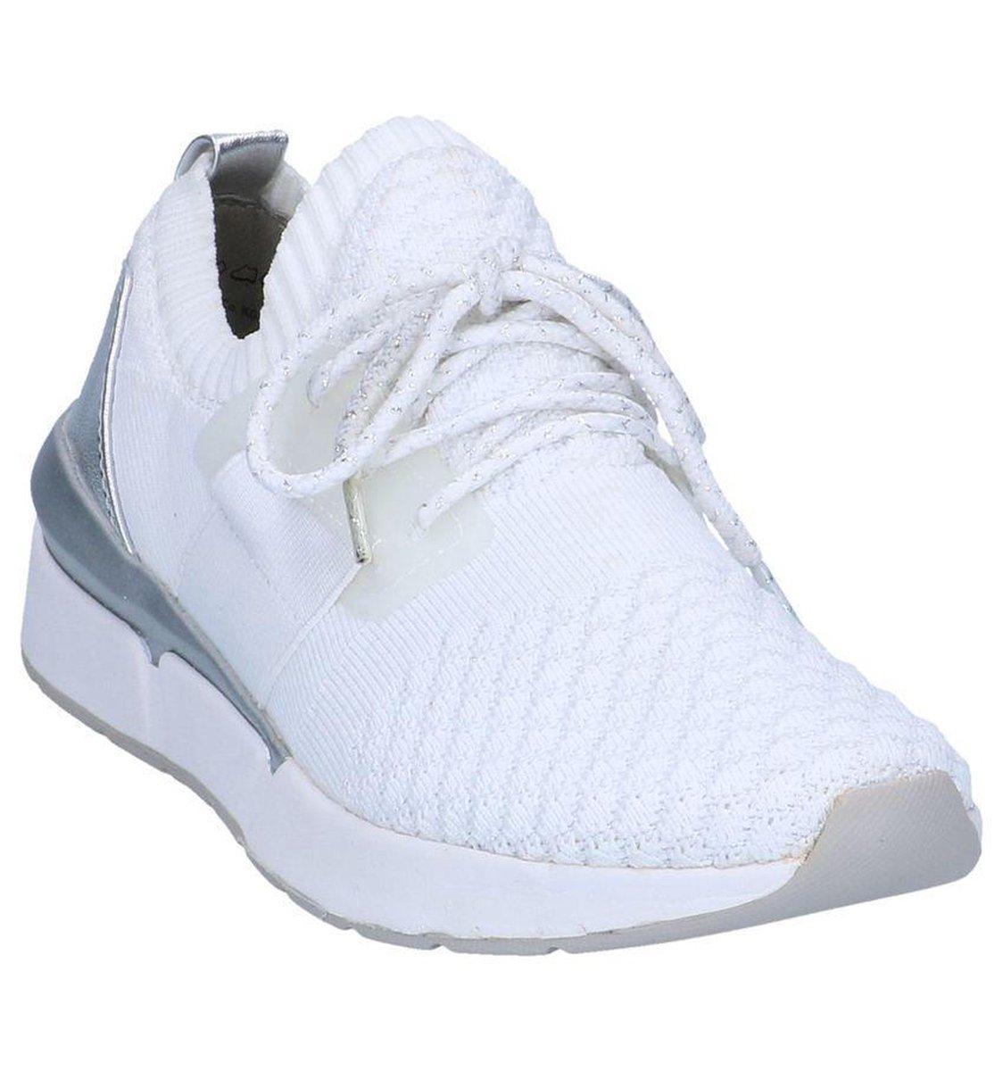 """""""Witte Geklede Slip-on Sneakers Marco Tozzi """" Sneakers"""