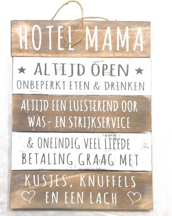 Ongebruikt bol.com   Wandborden Hout Spreukbord Hotel Mama Woondecoratie VV-65