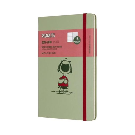 Moleskine Limited Edition Peanuts - 18 Months Weekly Planner 2017/2018 - Large - W Green