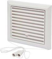 SENCYS ventilatierooster met open/dicht-stand, maat 16 x 16 cm  wit