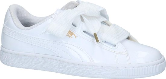 Puma Dames Sneakers Basket Heart Patent - Wit - Maat 41