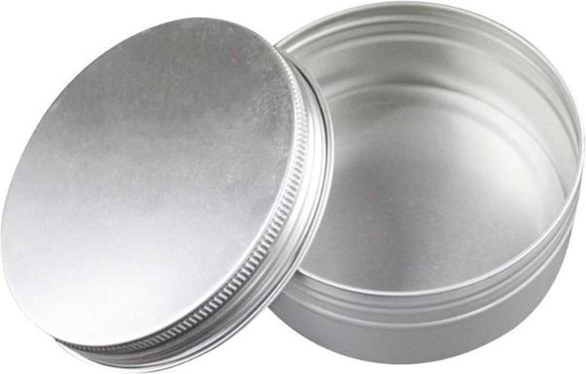 Aluminium opbergbakje voor wattenschijfjes - Tandendoosje - Zilveren wattenschijfjeshouder - Wattenschijf organizer / houder - Wattenhouder - Watten schijf houder