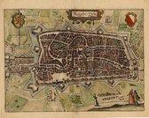 Mooie historische plattegrond, kaart van de stad Utrecht, door L. Guicciardini in 1625