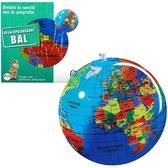 Caly Toys Globe - Opblaasbare Wereldbol - 30 cm - Nederlands