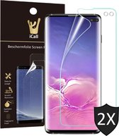2x Samsung Galaxy S10 Plus Screenprotector | Glas PET Folie Screen Protector Transparant iCall | Full-Screen