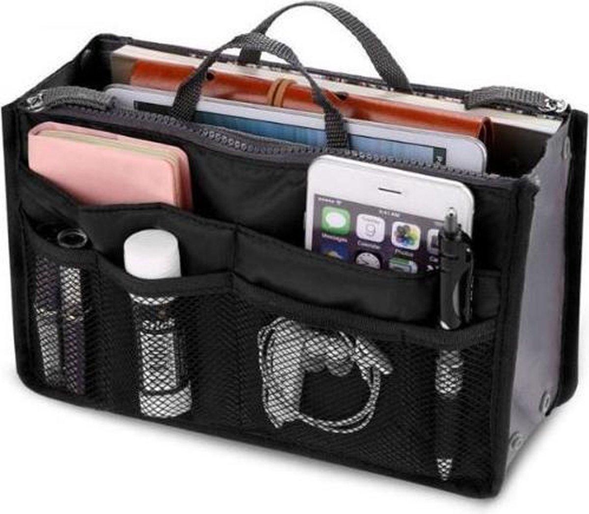 Bag in bag tas organizer   11 vakken   zwart