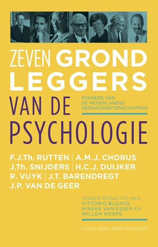 Zeven grondleggers van de psychologie - Vittorio Busato pdf epub