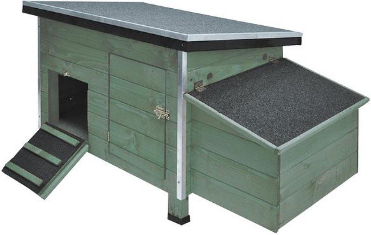 Kippenhok groen - vossenveilig - Merkloos