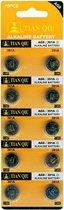 Ag 8 batterijen |Strip 10 stuks (ook bekend als AG8, LR1120, G8, LR55, 191, 391) knoopcel batterijen