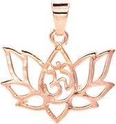 Hanger lotus messing roze goudkleur (±2.5 cm)