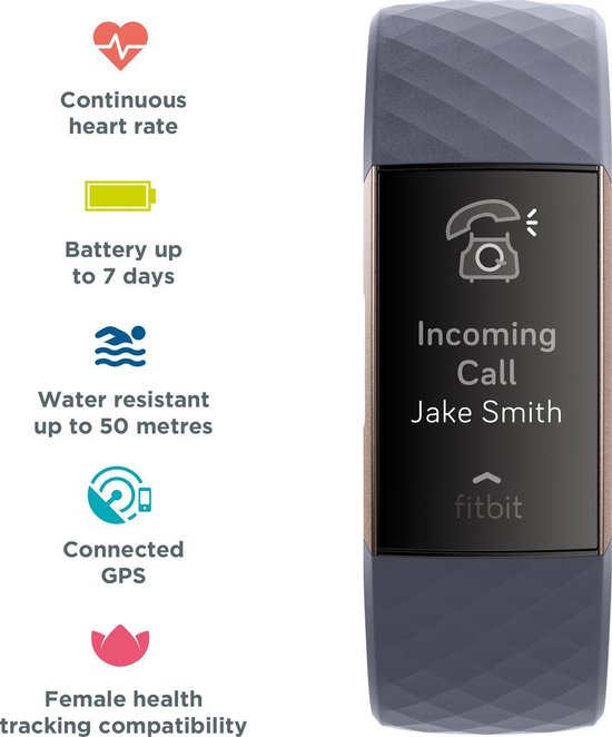 Fitbit Charge 3 - Activity tracker - Blauw/Grijs - Fitbit