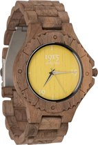 1915 watches® | 1915 watch men walnut yellow | Houten horloge