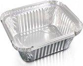 Aluminium rechthoekige voedsel containers, 250 ml - verpakking van 10 containers