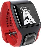 TomTom Multi-Sport Cardio - Multisporthorloge - GPS - Zwart/Rood
