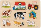 Goki puzzel Boerderij 9-delig