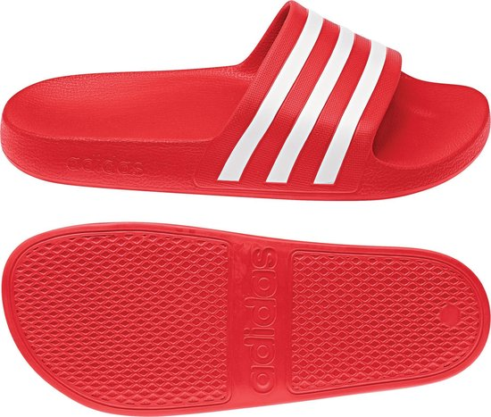adidas Adilette Aqua Heren Slippers - Active Red/Ftwr White/Active Red -  Maat 45