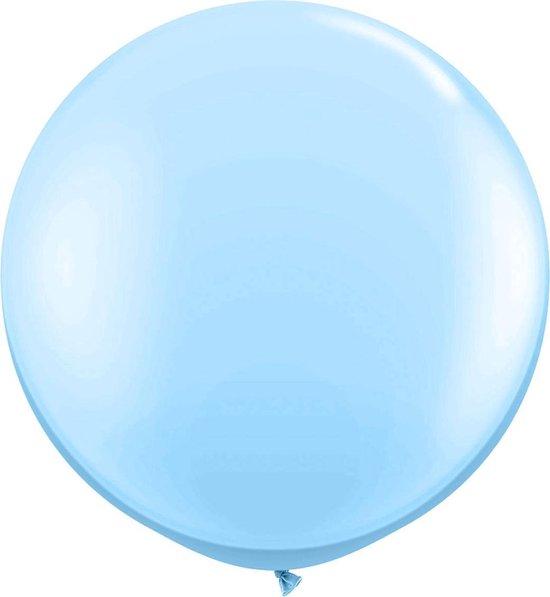 Lichtblauwe ballon XL - 90cm