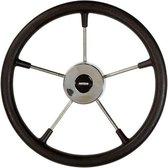 VETUS KS36 RVS Stuurwiel met zwarte polyurethaan Hoepel Ø 36 cm