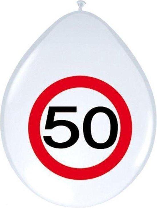 Benza - Ballon Verkeersbord - Leeftijd, verjaardag 50 Jaar
