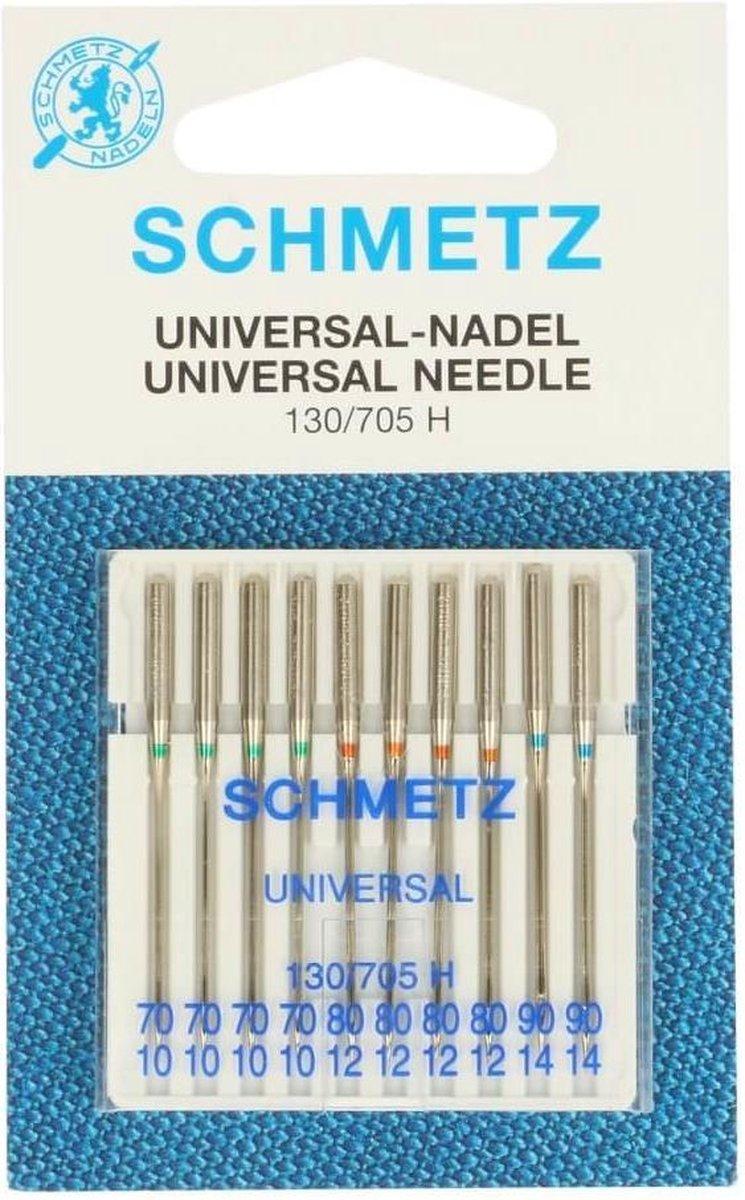 Schmetz naaimachine naalden universeel 130/705 H 70 / 80 / 90   (10 stuks totaal)