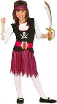 Roze piratenpak voor meisjes 110-116 (5-6 jaar)