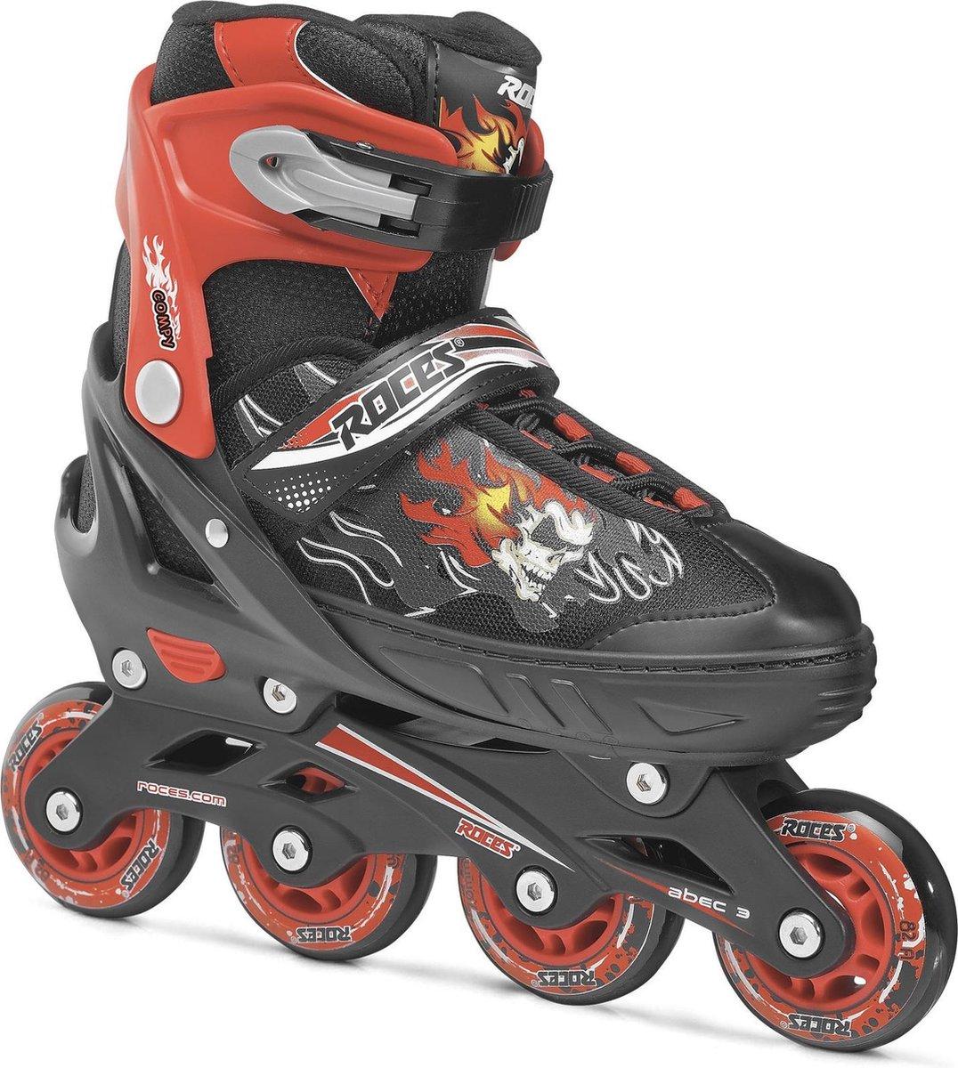 Roces Compy 6.0 skate set Inlineskates - Maat 34-37 - Unisex - zwart/rood